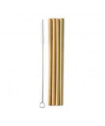 Palhinhas de Bambu Reutilizáveis