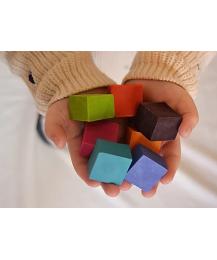 Lápis de Cera de Abelha - Cubos