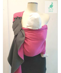 Ring Sling Charcoal/Raspberry Valentina