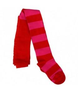 Collants Riscas Vermelho/Rosa
