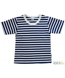 T-shirt Riscas Azul