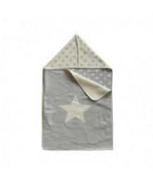 Manta Envelope Estrelas Cinza
